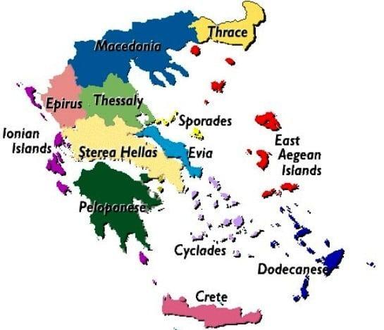 Yunanistan'ın bölgeleri